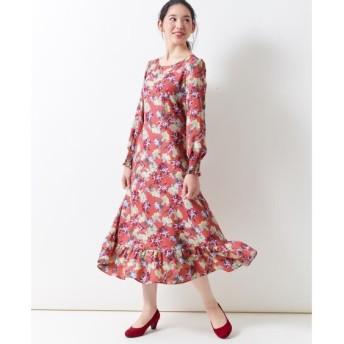 花柄ワンピース(MIIA) (大きいサイズレディース)ワンピース, plus size dress
