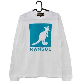 KANGOL BOX LOGO L/S TEE 各色 LCT0051 (WHITE, MENS(XL))