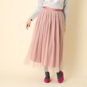 [マルイ] 【手洗い可】リバーシブルチュールロングスカート/クチュールブローチ(Couture Brooch)