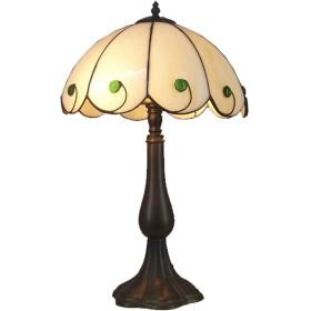 樹脂ベース、ベッドルームベッドサイドランプ、研究読書灯とティファニースタイルテーブルランプ、ヨーロッパのレトロローズ装飾デスクランプ、,Bsinglelamphead