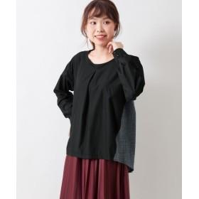 チェック切替ブラウス (大きいサイズレディース)Shirts, 衫, 襯衫, plus size