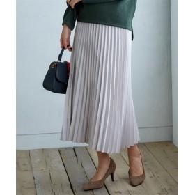 フェイクスエードアコーディオンプリーツスカート (ロング丈・マキシ丈スカート)Skirts, 裙子