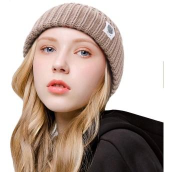 [Y-BOA] ニット帽子 ニットキャップ ビーニーキャップ ロールキャップ 毛糸帽 タグ付き ストレッチ レディース メンズ かわいい 秋冬 防寒 アウトドア カーキ