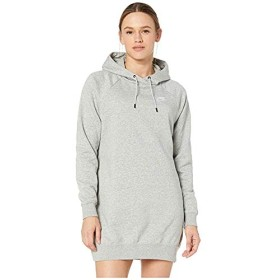 [NIKE(ナイキ)] ドレス・ワンピース NSW Essential Fleece Dress Dark Grey Heather/White L [並行輸入品]