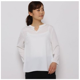 【ソフール/Sofuol】 サテンクレープスキッパーシャツ