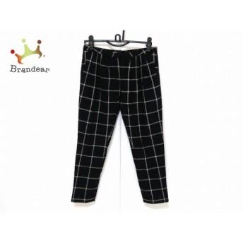 ミュラーオブヨシオクボ パンツ サイズ38 M レディース 新品同様 黒×白 チェック柄   スペシャル特価 20200214
