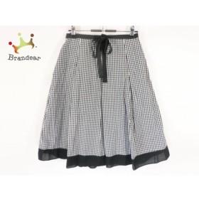 ギャラリービスコンティ スカート サイズ2 M レディース 美品 黒×白 チェック柄 新着 20191101