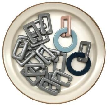 6P 2/18再販!連結パーツ/チェーンパーツ/ハンドメイドアクセサリー材料 アクリルパーツ プラスチックパーツ