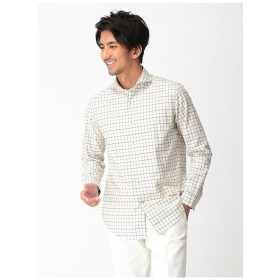 bgr 【BGR】ホリゾンタルタッターソールチェックシャツ カジュアルシャツ,エメラルドグリーン