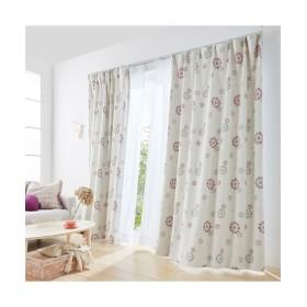 【送料無料!】華やかな花柄モチーフの遮光カーテン&レースセット カーテン&レースセット, Curtains, 窗, 窗簾