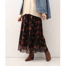 【30%OFF】 イエナ LISA フラワープリントギャザースカート◆ レディース ブラック 36 【IENA】 【セール開催中】