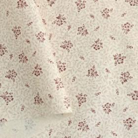 双日ファッション 花柄プリント ブロード生地 巾112cm×2m切売カット レッド系 B6131Z-1-2-2M 手芸・
