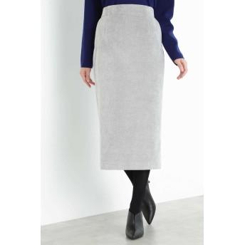 BOSCH ◆細コールロングタイトスカート ひざ丈スカート,グレー