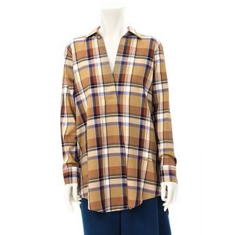 在庫一掃バーゲン フーチークーチー HOOCHIE COOCHIE バックタック ロング丈チェックシャツ 914560 レディース