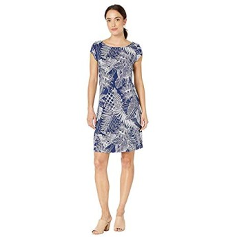 [Tommy Bahama(トミーバハマ)] ドレス・ワンピース Lava Cove Short Sleeve Dress Island Navy M [並行輸入品]