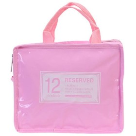 化粧品収納袋、メンズ・レディース・アウトドア旅行旅行ポータブルトラベル防水PUソフト耐摩耗大容量 (Color : ピンク)