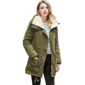 AGOWOO ダウンジャケット レディース 綿ジャケット 冬用 ファー付き アウター 暖かい コート