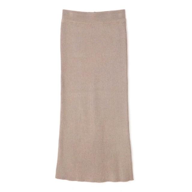 【公式/フリーズマート】リブニットタイトスカート/女性/スカート/ベージュ/サイズ:FR/レーヨン 58% ナイロン 42%