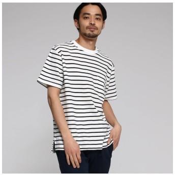 【ベース ステーション/BASE STATION】 【WEB限定】 カノコ編立衿 BIG-Tシャツ