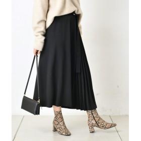 DOUDOU(ドゥドゥ) レディース プリーツ切替スカート2 ブラック