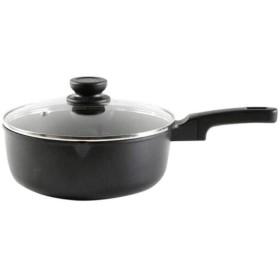HENGXIANG フライパン、ソテーパン、ミルクウォーマーポット、焦げ付き防止パン、、少ないヒューム - 10インチ食器洗い機セーフオーブンセーフ (Color : Black, Size : 24cm)