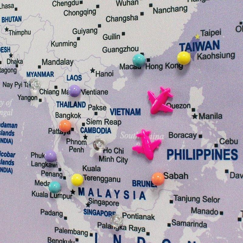 UMade 訂製地圖專用 彩色水晶磁鐵地標扣 (100顆)