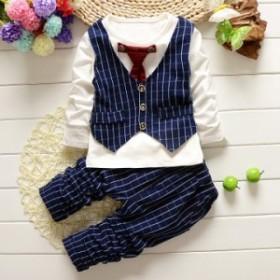 2019春の子供紳士ネクタイのミニベストの新商品の秋の爆款の男性の赤ちゃんのスーツは1枚代行します