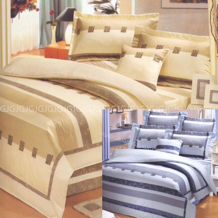 佳冠附發票~藍2950 雙人床罩組 專櫃畢卡索美國綿台灣製造 100%純綿精梳棉美國棉床組,加高床可使用,可訂做任何尺寸。