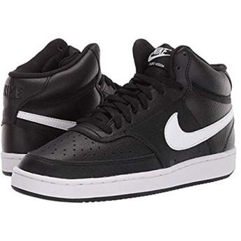 [ナイキ] レディーススニーカー・靴・シューズ Court Vision Mid Black/White 23.5cm B - Medium [並行輸入品]