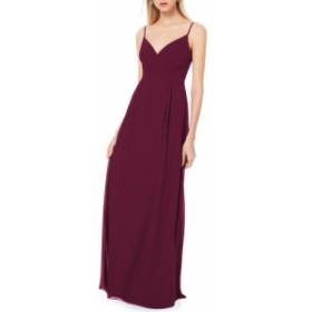 レヴコフ #LEVKOFF レディース パーティードレス ワンピース・ドレス pleated bodice chiffon gown Wine