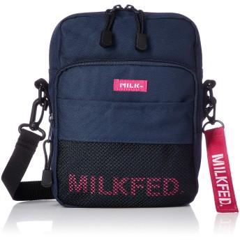 [ミルクフェド] MESH POCKET SHOULDER BAG 3182084 NAVY