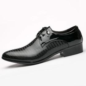 シューズ ファッション 先のとがった靴メンズドレスシューズイングランドビジネスカジュアルシューズ 快適 (色 : 黒, サイズ : 43)