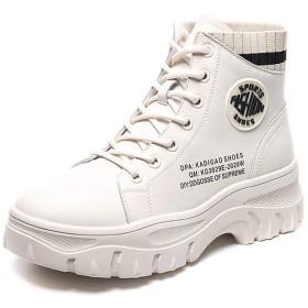 [UMIZORA] レディースブーツ ベージュブーティー ファッションブーツ 6cmヒール ブーツ スニーカーブーツ ショートブーツ 厚底ブーツ 編み上げショートブーツ 欧米風