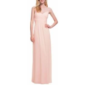 レヴコフ #LEVKOFF レディース パーティードレス ワンピース・ドレス surplice neck chiffon gown Petal Pink