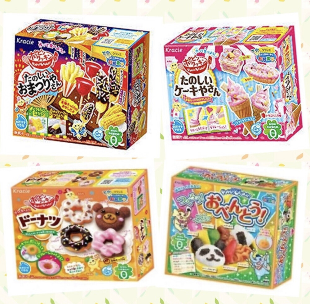 diy kracie  造型食玩  知育菓子便當/甜甜圈/冰淇淋/祭典/漢堡薯條/壽司/麵包屋