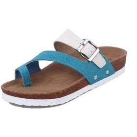 [Bopoli] レディーズ Cork flip-Flop 浜辺 ブーツ プラスサイズ Flat サンダル 夏 スリッパ
