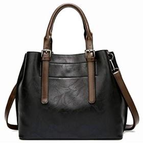 Honana ショルダーバッグ レディース 斜めがけ ミニポシェット ファッションショルダーバッグ大容量レトロバッグ ワンショルダー 大容量 小さめ 通勤 通学 (Color : Black, Size : 301325cm)
