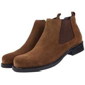 [SARFI] ブーツ メンズ チェルシーブーツ 本革スエード サイドゴア ワークブーツ ビジネス エンジニアシューズ 幅広 防滑 革靴 紳士靴 営業マン 就活 通勤