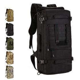 戦術的なバックパック登山バッグ屋外50リットルポータブルメッセンジャーバッグ旅行バックパック男性と女性の荷物バッグ-C3
