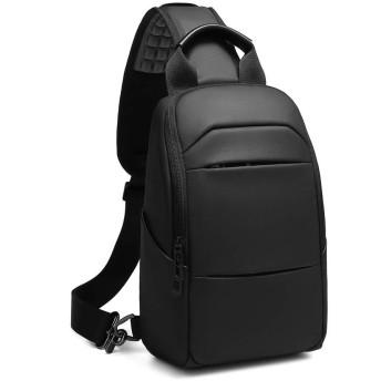 OBOC ボディバッグ ワンショルダーバッグ 斜め掛け ボディーバッグ 大容量 防水 iPad収納 USBポート付 メンズ 人気 通学 通勤 スポーツ