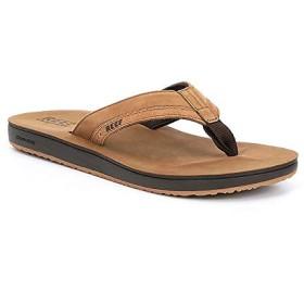 [リーフ] シューズ サンダル Men's Leather Contoured Cushion Sandals Tan メンズ [並行輸入品]