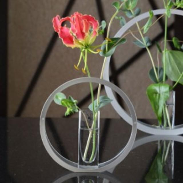 UTAKATA うたかた ガラス花器付 Sサイズ UT-1【ALART アルアート 花器 花瓶 フラワーベース 一輪挿し 日本製 和モダン おしゃれ】