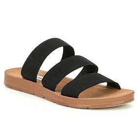 [スティーブマデン] シューズ サンダル Pascale Elastic Strap Sandals Black レディース [並行輸入品]
