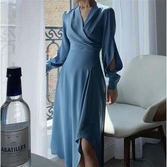 超高品質 セクシー レディース エレガント ワンビース 上品な雰囲気を与える ワンビース 大人気 二次会 結婚式 パーティー 気質 スリム ドレス