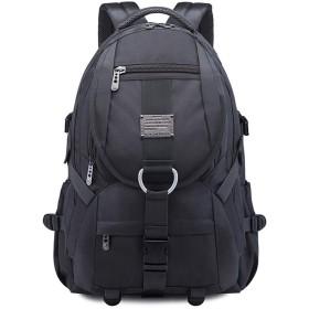 QTMIAO-Bags 防水男性オックスフォード布のショルダーバッグアウトドア旅行のバックパック通学コンピュータのバックパック大容量 (Color : Grey)