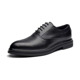 [GERUIQI] カジュアルファッションイギリススタイル快適なポインテッドロートップフォーマルシューズ(パテントレザーオプション) メンズビジネスオックスフォード 快適な男性のために設計 (Color : ブラック, サイズ : 24 CM)