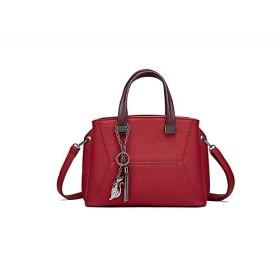 Honana ショルダーバッグ レディース 斜めがけ ミニポシェット レディースファッションレトロポータブルライチパターンワイルド大容量シングルショルダー斜めのパッケージ ワンショルダー 大容量 小さめ 通勤 通学 (Color : Red, Size : 301423cm)