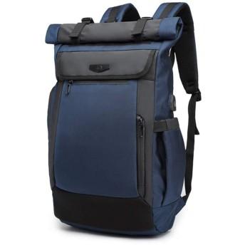 QTMIAO-Bags 防水ショルダーバッグコンピュータのショルダーバッグを充電メンズショルダーバッグレジャー旅行のUSB (Color : Blue)