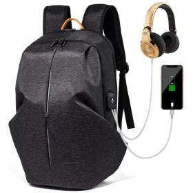 QTMIAO-Bags ユニセックスショルダーバッグ防水コンピュータバッグレジャーファッションのスポーツのバックパック通学旅行バッグ (Color : Black)