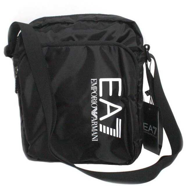 EMPORIO ARMANI(エンポリオアルマーニ) TRAIN PRIME U POUCH BAG LARGE 275670 CC733 (Black 00020)